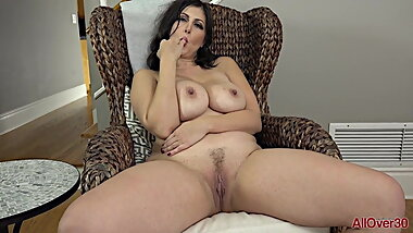 Mature Stunning Brunette MILF, shows it all.