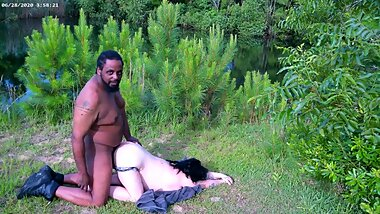 4k The Great Outdoors Hardcore Fuck Interracial BBC BBW Italian Milf facial preview