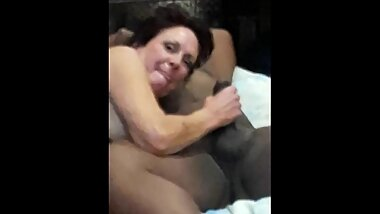 Wife sucks the biggest black cock sh'es ever had