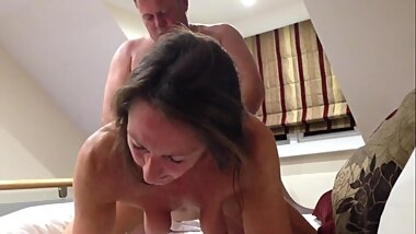 Horny MILF multiple orgasm by doggystyle fuck