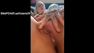Pussy Creampie and Pussy Fingering Pov by Horny Milf on snapchat