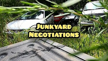 Hidden camera junk yard fuck. Broke whore gives pussy for parts! Spycam!