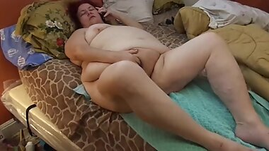 Naughty BBW Nurse Vicki watch as She does phone sex in masturbates and cums with her client