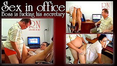 The boss is fucking the secretary girl. Stupid secretary can only fuck, but not work
