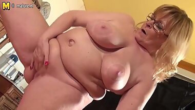 65 Year Old Granny Still Hungry For A Good Fuck