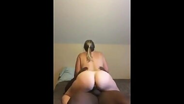 Slut cheating married wife riding her black lover