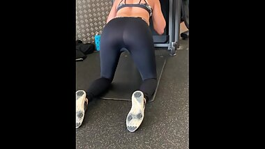 see through leggings public gym