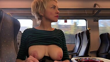 Train Challenge, FULL Video. Risky Public Nudity