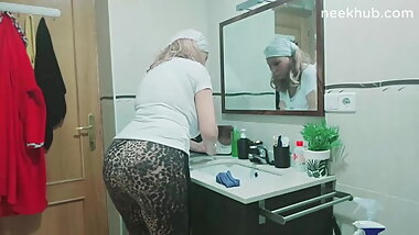 arab  sexy granny big ass at home