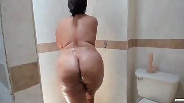 Pseudo Bengali Aunty Naked in Bathroom